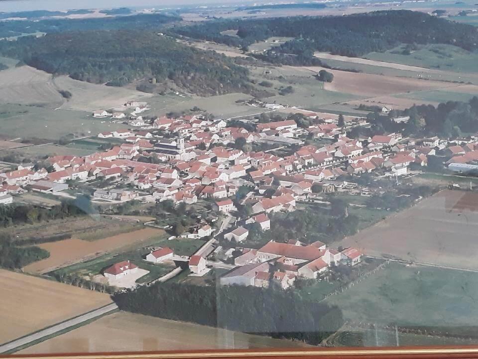 Vue aérienne de Orges