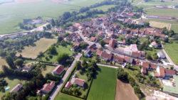 Vue aérienne de Pont-la-Ville