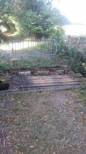 Réfection d'un pont, Dancevoir, avant travaux