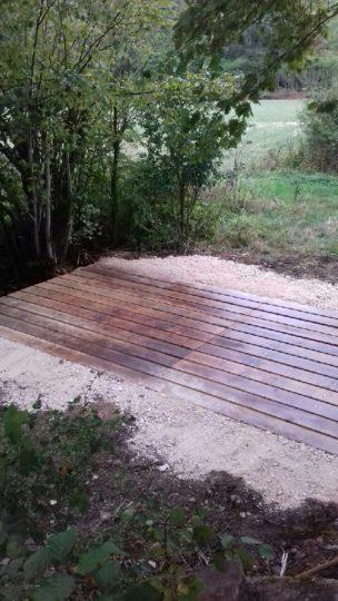 Réfection d'un pont, Dancevoir, après travaux