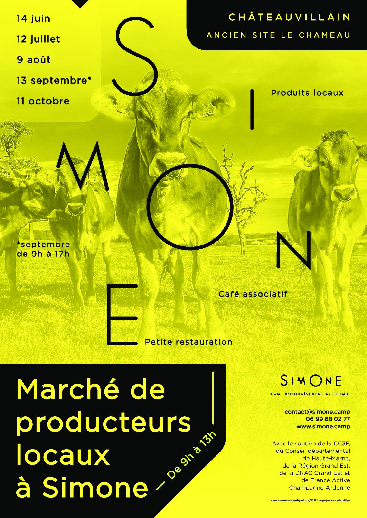 Marché de producteurs locaux à Simone