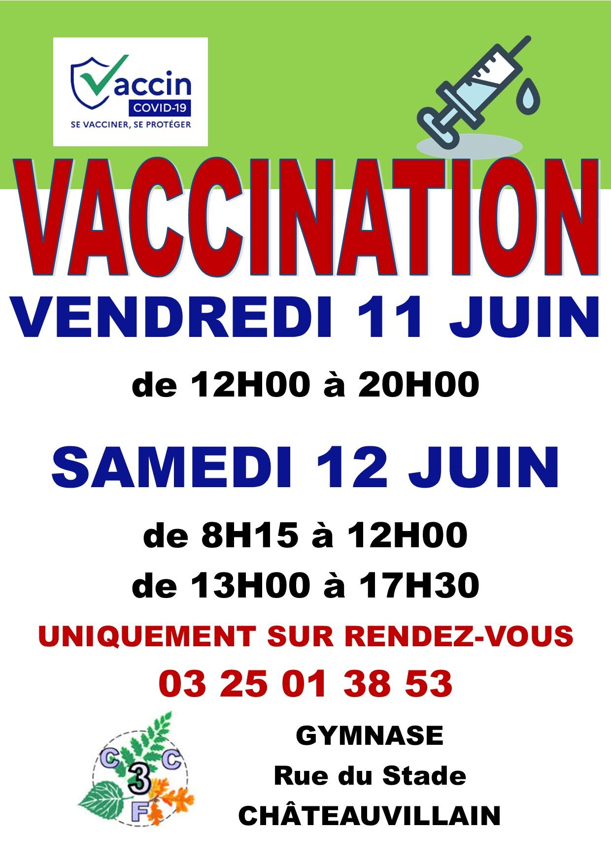 Vaccination à Châteauvillain