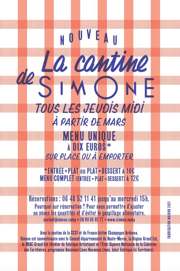 SIMONE – Tous les jeudis midi – La cantine de SIMONE
