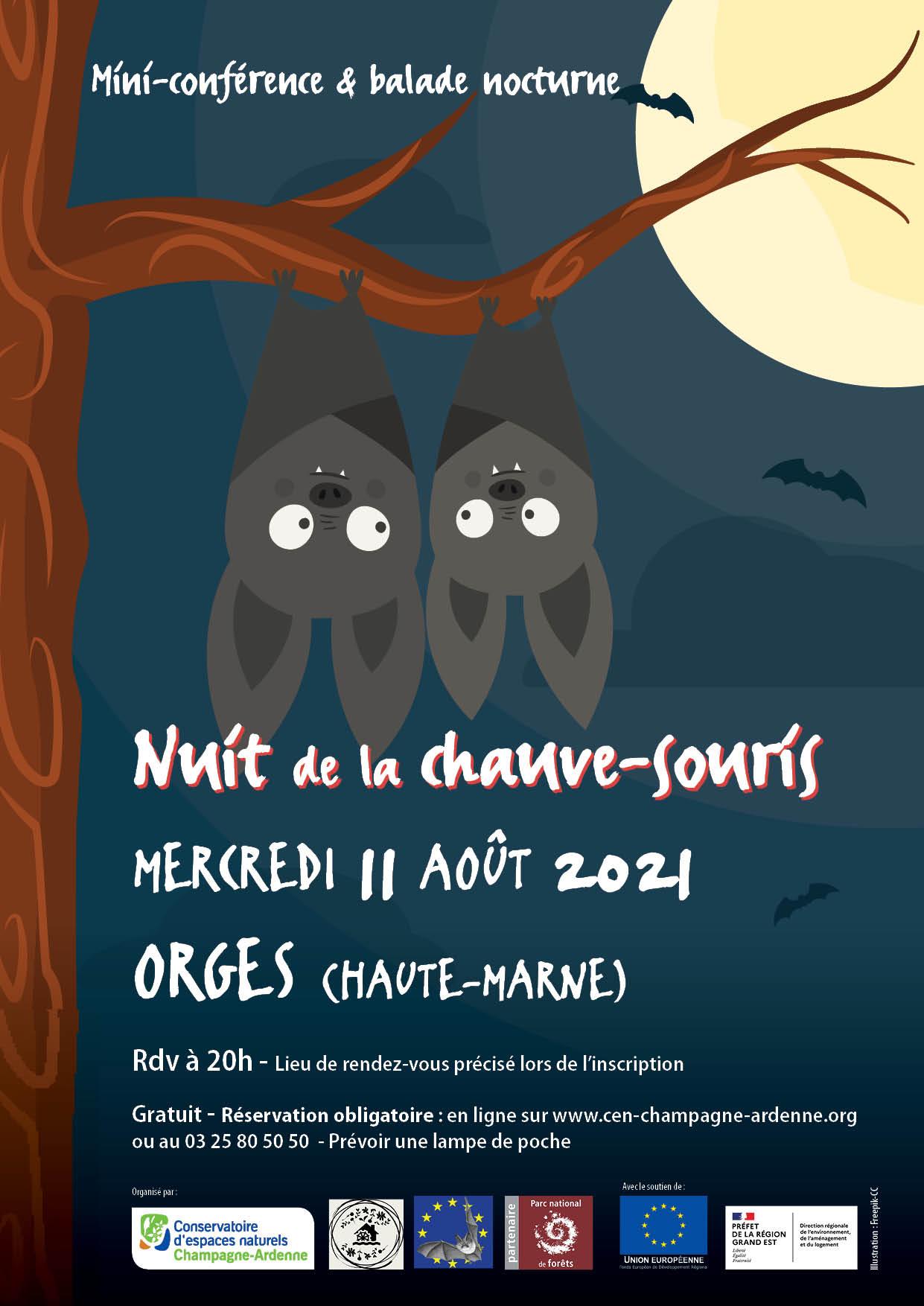 Nuit de la Chauve-Souris – Mercredi 11 Août 2021 – ORGES